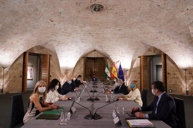 La Alhambra acoge el Consejo de Gobierno de la Junta de Andalucía