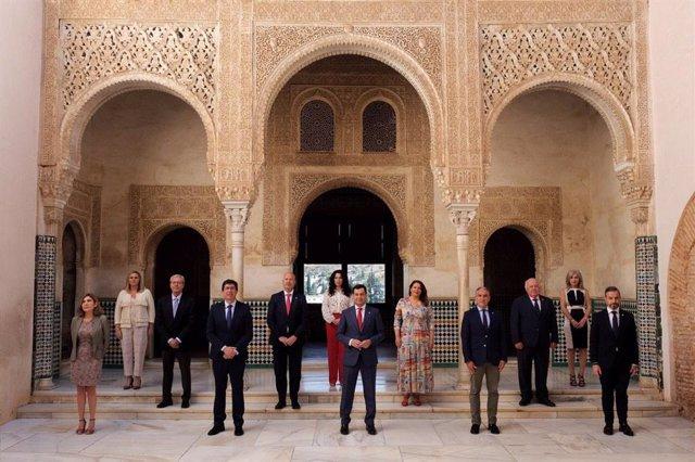 La Alhambra acoge la reunión del Consejo de Gobierno de la Junta de Andalucía