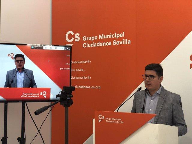 Álvaro Pimentel, portavoz de Cs en el Ayuntamiento de Sevilla, en una imagen de archivo