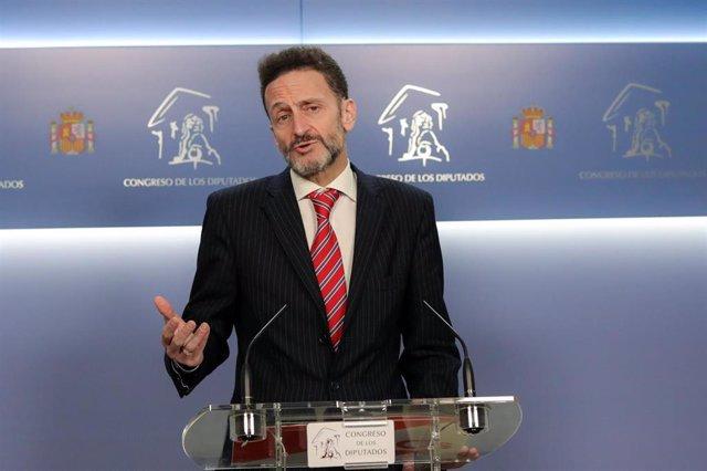 El portavoz adjunto de Ciudadanos en el Congreso, Edmundo Bal, en rueda de prensa