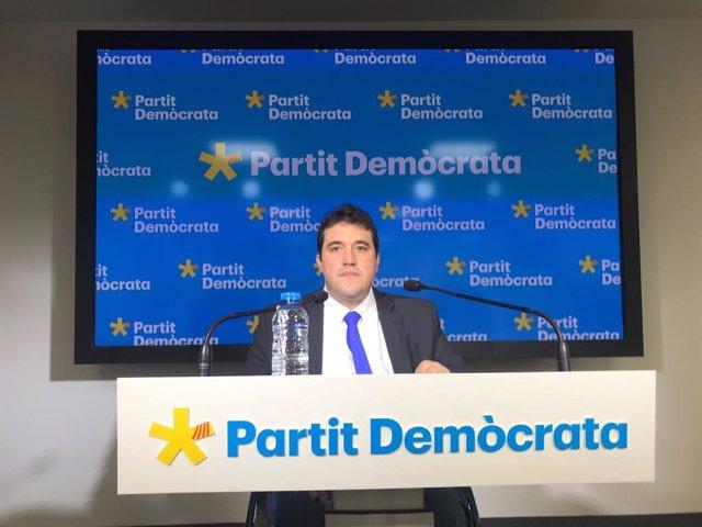 El president del PDeCAT, David Bonvehí, en la conferència de premsa del 30 de gener del 2020.