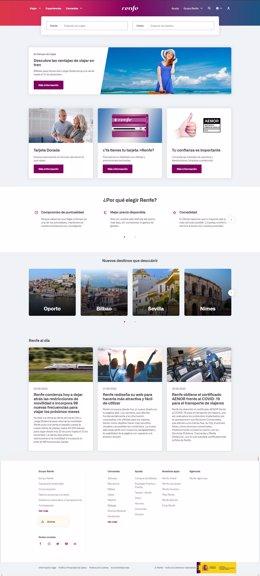 Nuevo diseño de la web de Renfe