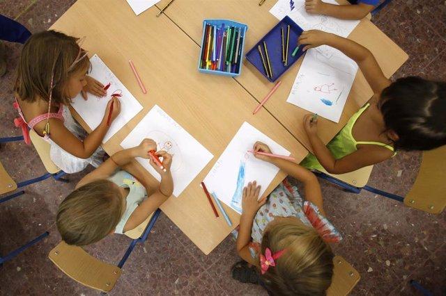 Niños de Infantil de un colegio de Mairena del Aljarafe (Sevilla)