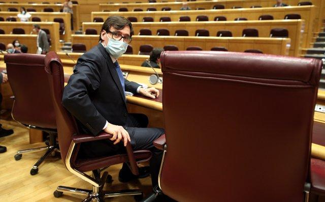 El ministro de Sanidad, Salvador Illa, comparece en el Senado.