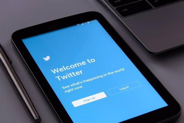 Pantalla de inicio de la aplicación de Twitter