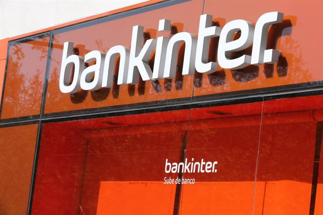 Oficina de Bankinter. Sucursal del banco en Madrid.