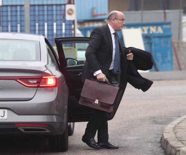 El coronel de la Guardia Civil y el coordinador del dispositivo policial del referéndum ilegal del 1 de octubre, Diego Pérez de los Cobos, a su llegada a la Audiencia Nacional para una declaración