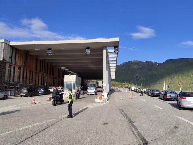 La frontera franc-andorrana el passat 1 de juny 2020.