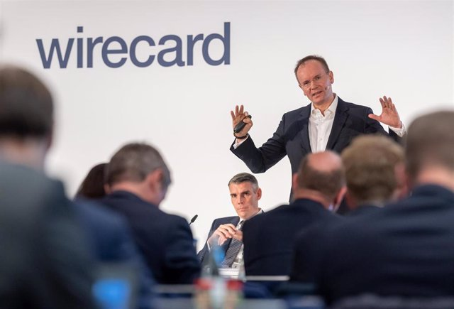 25 April 2019, Bavaria, Aschheim: Markus Braun, CEO of Wirecard, speaks at the balance sheet press conference of the payment service provider. Photo: Peter Kneffel/dpa