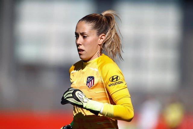 La guardameta del Atlético de Madrid Lola Gallardo