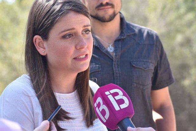 La coordinadora de Podemos Mallorca, Aurora Ribot. Imagen de archivo.