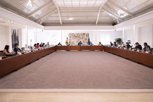 Reunión del Consejo de Ministros este martes, que tiene previsto aprobar el Fondo de Reserva de Garantía para la industria electrointensiva, con el objetivo de mejorar su competitividad, en Madrid (España), a 23 de junio de 2020.
