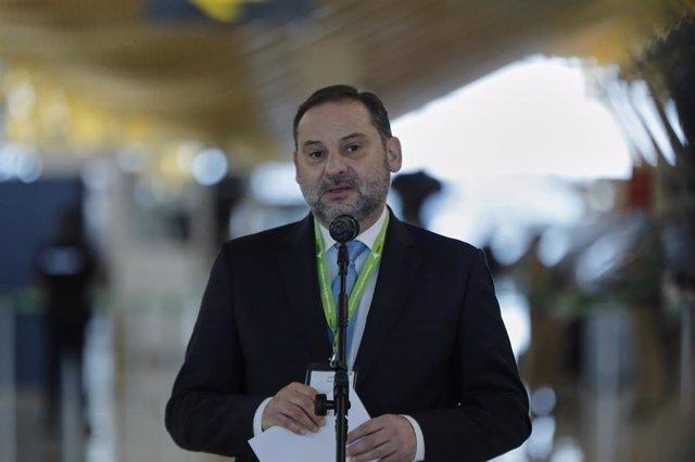 El ministro de Transportes, Movilidad y Agenda Urbana, José Luis Ábalos, en una imagen de archivo