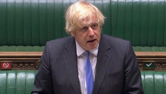 Boris Johnson en la Cámara de los Comunes