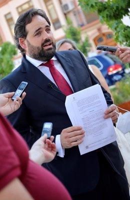 El presidente del PP de C-LM, Paco Núñez, en Tomelloso