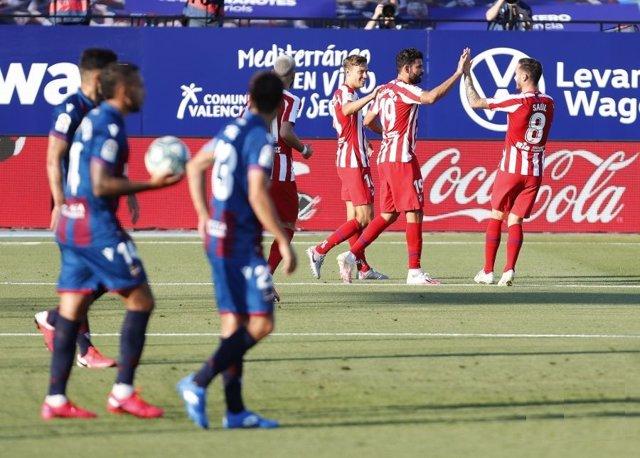 Fútbol/Primera.- Crónica del Levante - Atlético de Madrid, 0-1