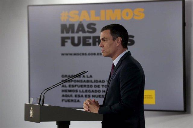 Declaracion institución del presidente del Gobierno, Pedro Sánchez