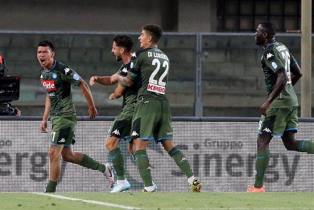 Fútbol/Calcio.- (Crónica) El Nápoles cree en Europa tras vencer al Hellas Verona