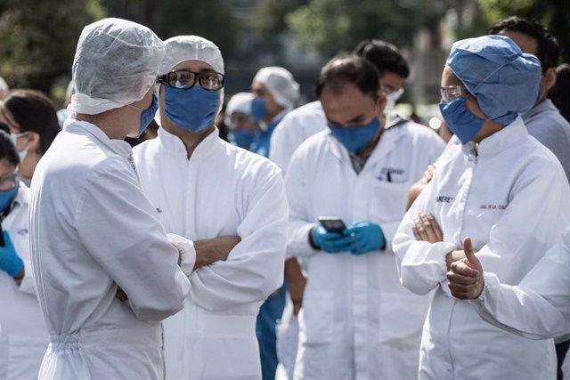 México ha informado de que 39.032 profesionales de la salud han contraído la COVID-19, mientras que hay más de 500 que han fallecido a causa de ella.