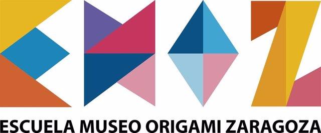 Cartel de la Escuela Museo de Origami de Zaragoza