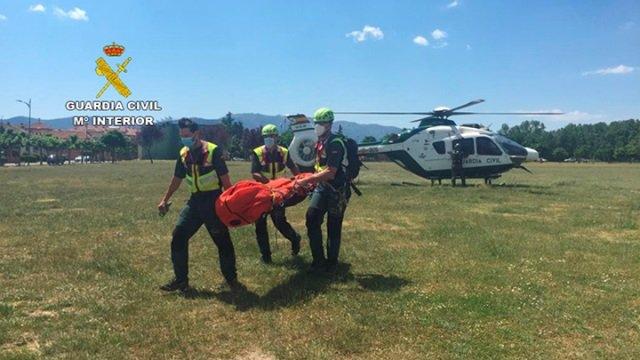 Imagen ofrecida por la Guardia Civil sobre la localización del cadáver del montañero desaparecido en la Sierra de Ayllón