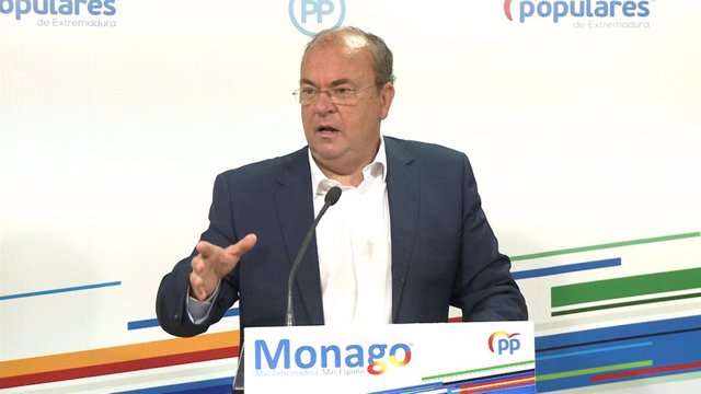 José Antonio Monago en rueda de prensa, en una imagen de archivo