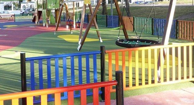Un parque infantil en Málaga