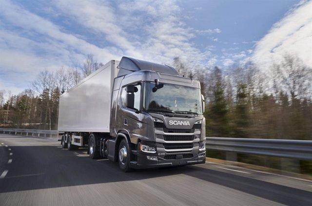 Imagen de un camión de Scania.