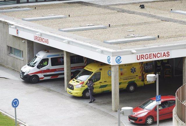 Aparcamiento de Urgencias del Hospital Valdecilla. Archivo