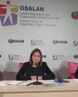 La consejera de Trabajo y Justicia, María Jesús San José.