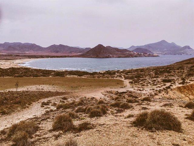 Playa de Los Genoveses, en el parque natural de Cabo de Gata