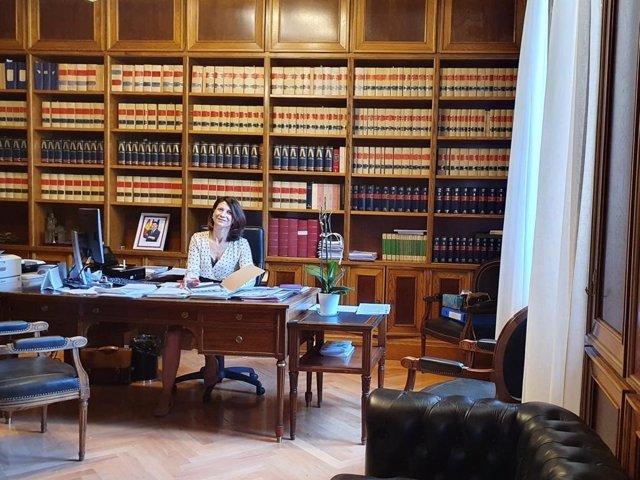 La presidenta del Patronato de Desarrollo Provincial de Cuenca, Elena Carrasco.
