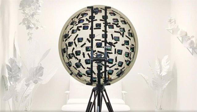 Sistema de vídeo 6DOF, con 46 cámaras, de Google.
