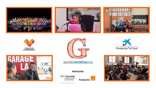 Proyectos educativos ganadores de la 7ª edición de los Premios 'Grandes Iniciativas'