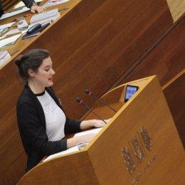 La diputada de Podemos Cristina Cabedo