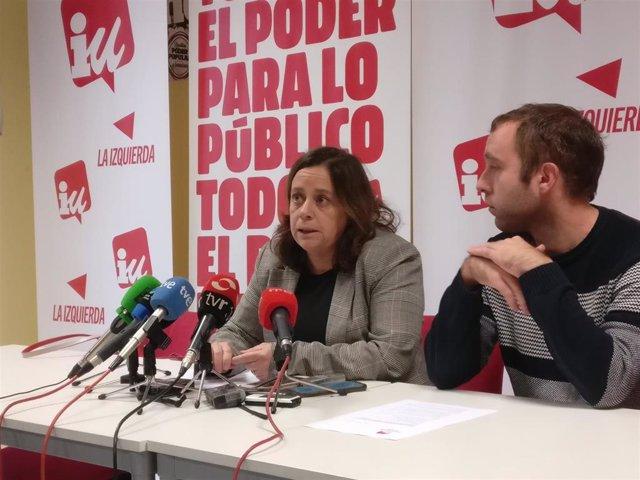 Henar Moreno y Diego Mendiola de Izquierda Unida dan a conocer las líneas rojas para apoyar los presupuestos de La Rioja