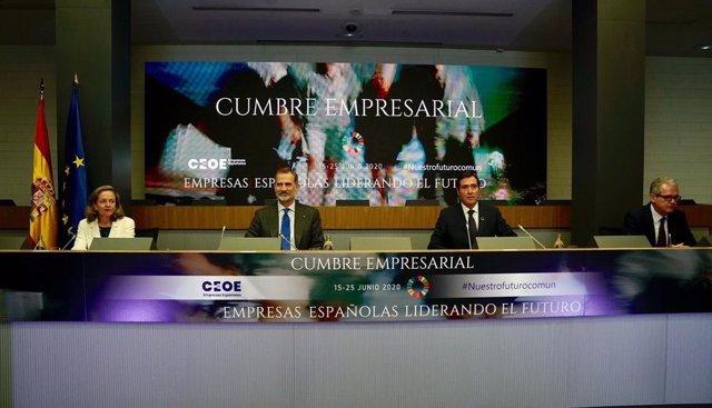 El Rey Felipe VI participa en la Cumbre Empresarial de la CEOE