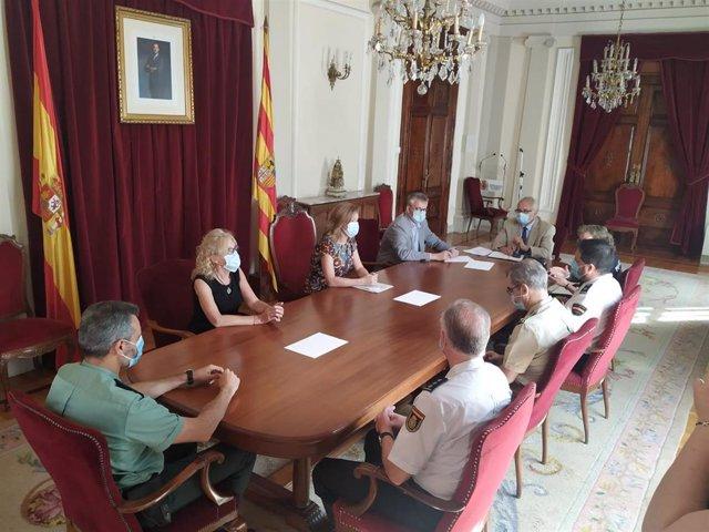 Pilar Alegría ha visitado la Subdelegación del Gobierno en Huesca