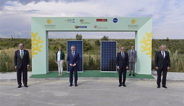 El lehendakari, Iñigo Urkullu, y el presidente de Iberdrola, Ignacio Sánchez Galán, presentan el proyecto fotovoltaica Ekienea