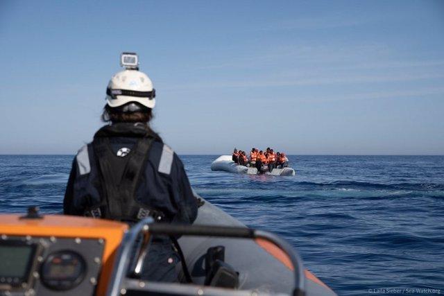 Rescate de migrantes por parte del 'Sea Watch'