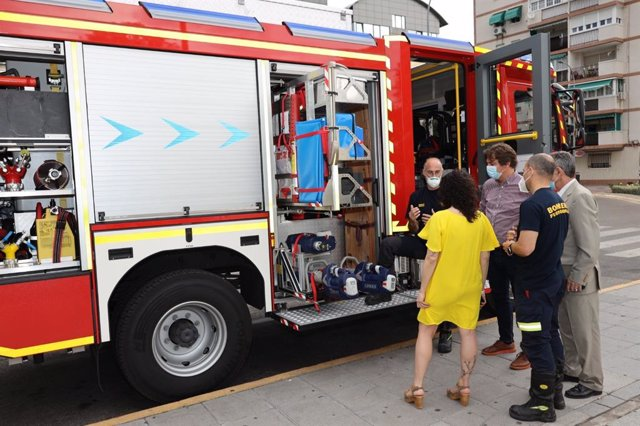 Nuevo camión de bomberos de Fuenlabrada.