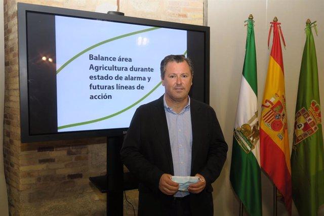 El diputado de Agricultura, Ganadería, Medio Ambiente y Cambio Climático, Pedro Bruno