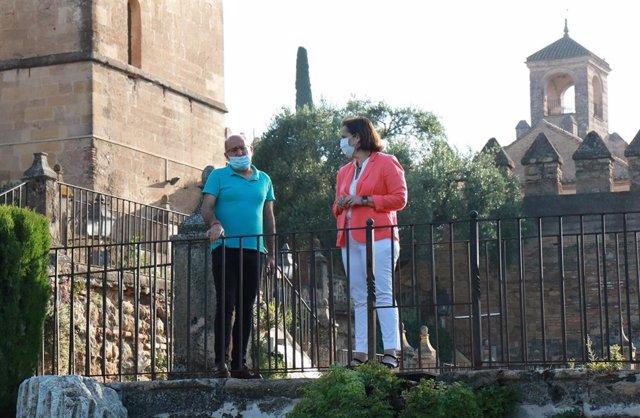 Blanca Torrent en los jardines del Alcázar de los Reyes Cristianos, en una imagen de archivo.