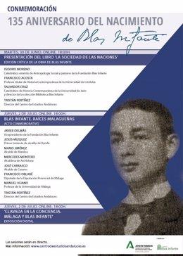 Programa de actividades con motivo del 135 aniversario del nacimiento de Blas Infante