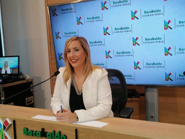 Rakel Olalla, concejal del área de Mujer de Barakaldo.