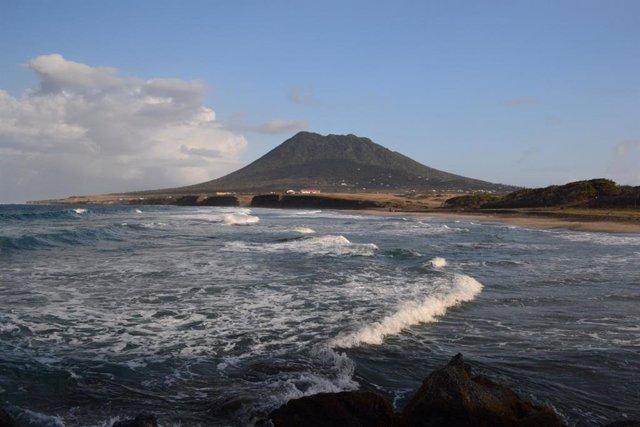 Isla e San Eustaquio, en las Pequeñas Antillas