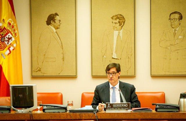 El ministro de Sanidad, Salvador Illa, comparece en el Congreso en Comisión de su departamento, en Madrid (España), a 24 de junio de 2020.