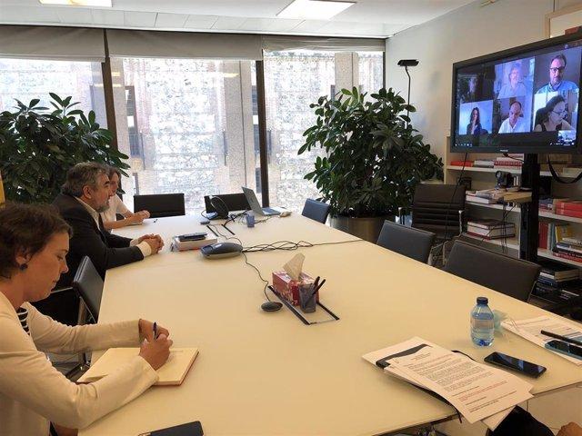 El Ministro De Cultura Y Deporte, José Manuel Rodríguez Uribes, Se Ha Reunido Telemáticamente Esta Semana Con Plataformas De Contenido Audiovisual, Televisiones Y Productoras Para Conocer La Situación Y Retos De Este Sector.