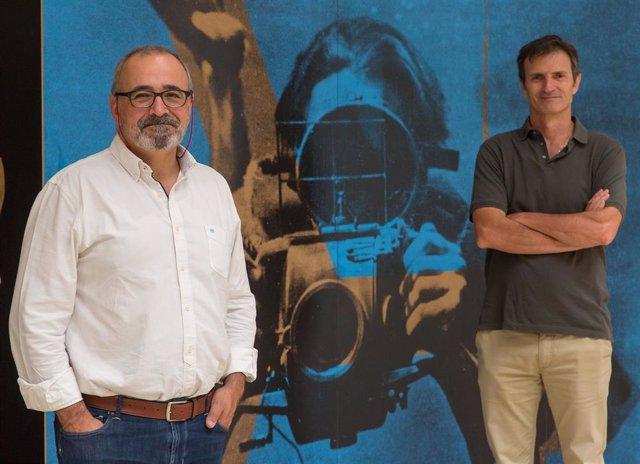 Ignacio López-Goñi, director del Museo de Ciencias Universidad de Navarra; y Bienvenido León, director del #LabMeCrazy! Science Film Festival