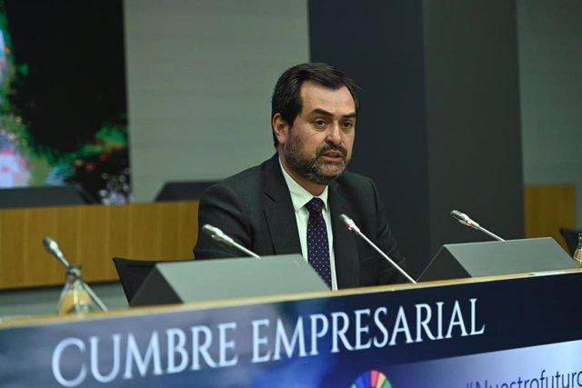 El presidente de CEOE-Aragón, Ricardo Mur.